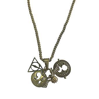 Harry Potter-Halskette Anhänger Heiligtümer Vertiefungen Zeit Turner Charms offiziellen Kette
