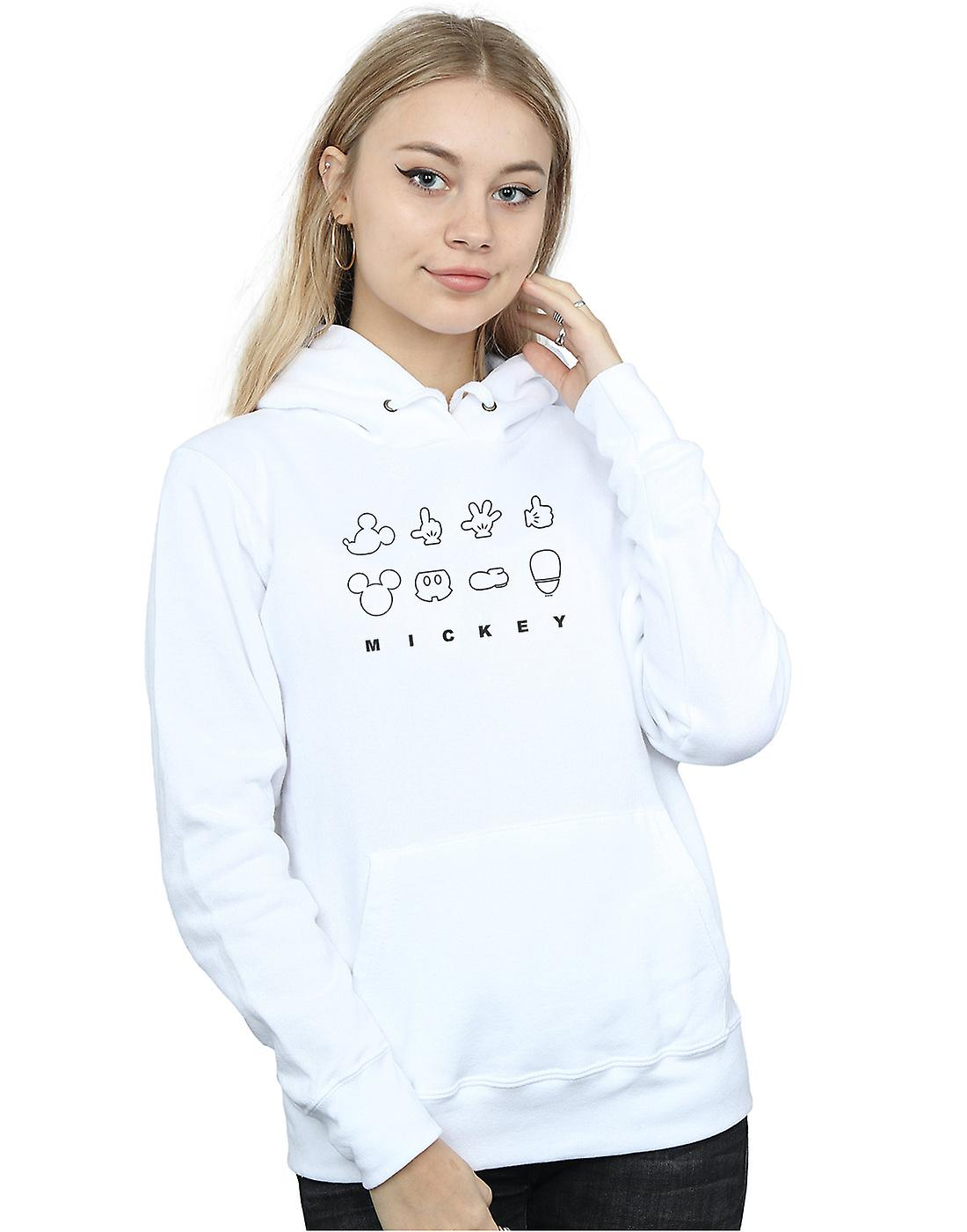 Disney Women's Mickey Mouse Deconstructed Hoodie