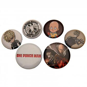 One Punch Man Button Badge Set