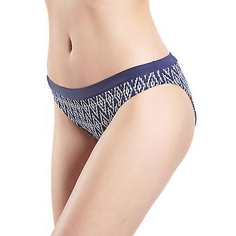 Aubade NU22 Women's Coconut Groove Marin Navy Blue Geometric Swimwear Beachwear Reversible Bikini Bottom