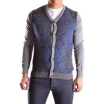 Daniele Alessandrini Ezbc107194 Männer's Multicolor Wolle Strickjacke