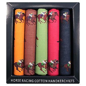 David Van Hagen viisi Pack Horse Racing teemalla puuvilla nenäliina - monivärinen