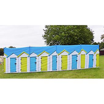 OLPRO Beach Huts 4 Pole Compact Camping Windbreak with Steel poles 480cm x 140cm