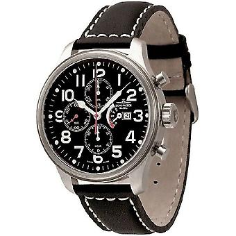 Zeno-watch mens watch OS pilot Chrono power reserve 8553TVDPR-a1