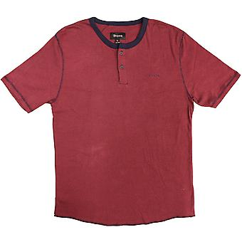 Brixton Lewis Henley T-shirt Red Navy