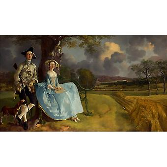 Mr. and Mrs Andrews, Thomas Gainsborough, 60x35cm