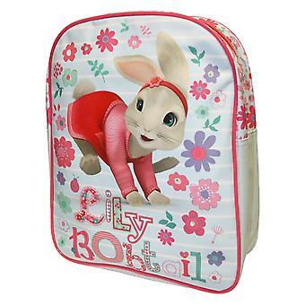 Peter Rabbit Lily Bobtail Floral Striped Blue & White Children's Backpack