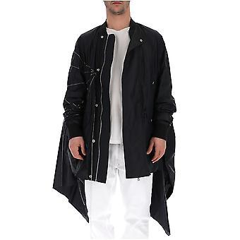 Rick Owens Rr19s2907nzem40908 Men's Black Cotton Outerwear Jacket