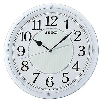 Seiko Luminous Dial Wall Clock with Arabic Numerals - Matt White (QXA734W)