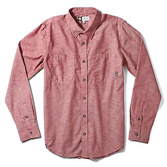 Lrg Desmond Long Sleeve Chambray Woven Shirt Maroon