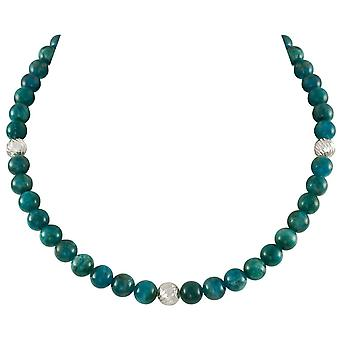 Eternal Collection Debutante Apatite Semi Precious Beaded Silver Tone Necklace