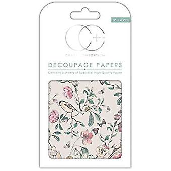 Craft Consortium English Garden Decoupage Papers (CCDECP264)