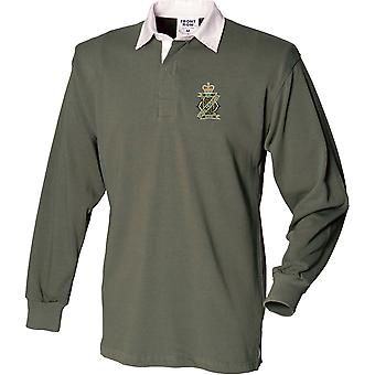 13ème 18ème Royal Hussars Colour - Licensed British Army Embroidered Long Sleeve Rugby Shirt