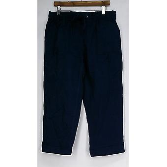 Liz Claiborne York Jackie Pull-On Casual Pants Navy Blue A252713