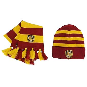 Harry Potter Hogwarts Knit Hat & Scarf Set