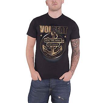 Volbeat T Shirt Anchor band logo new Official Mens Black
