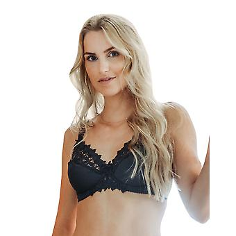Guy de France 11001-5 Women's Anthracite Grey Embroidered Underwired Cup Bra