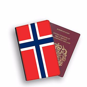 NORWAY Flag Passport Holder Style Case Cover Protective Wallet Flags design