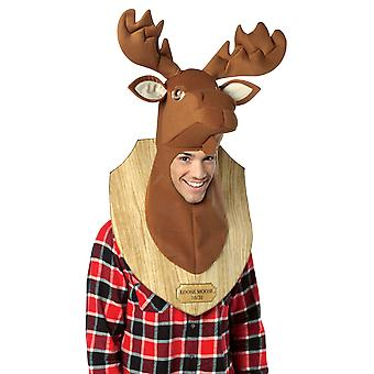Adult Trophy Moose Head Animal Novelty Funny Fancy Dress Costume Accessory