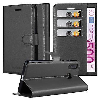 Cadorabo Hülle für Samsung Galaxy A40 hülle case cover - Handyhülle mit Magnetverschluss, Standfunktion und Kartenfach – Case Cover Schutzhülle Etui Tasche Book Klapp Style