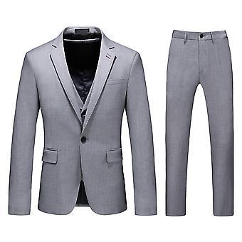 Allthemen Men-apos;s 3-Piece Solid Business Casual Suit Veste et Vest et Pantalon