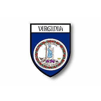 Autocollant Sticker Voiture Moto Blason Ville Drapeau Etats USA Virginia