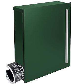 MOCAVI ボックス 110 品質新聞ボックス モスグリーン (RAL 6005) 壁文字ボックス 12 リットル デザイン メールボックス メールボックス