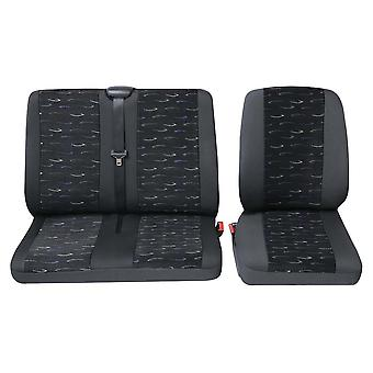 Commercial van single and double seat Covers Ford TRANSIT Box 2014-2018
