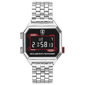 Scuderia Ferrari | Men's Digidrive | Stainless Steel Bracelet | Black Dial | 0830703 Watch