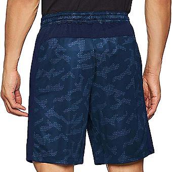 Under Armour UA mens MK-1 tryckt gym aktiv utbildning bottnar shorts-Navy