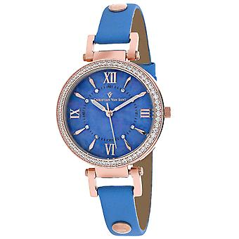 Christian Van Sant Mujeres's Petite Blue MOP Dial Watch - CV8137