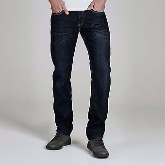 Firetrap men's leather belt jeans dark wash