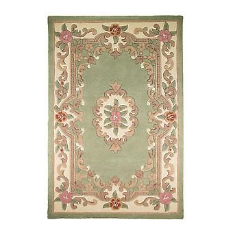 Lotus Premium Aubusson tæppe-rektangulær-grøn