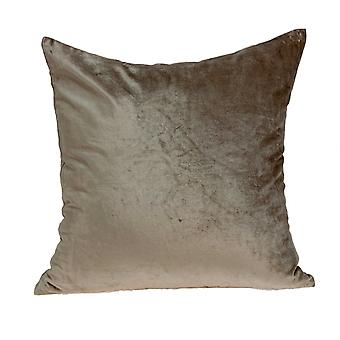 Super Soft Taupe Solid Decorative Accent Pillow