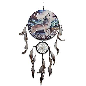 Howling Wolf and Eagle Dreamcatcher