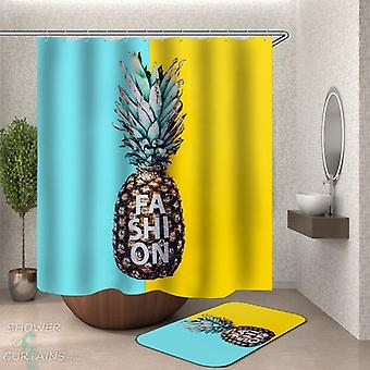Fashion Pineapple Shower Curtain