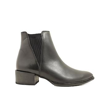 Paul Green 9333-00 Black Leather Womens Pull On Smart Chelsea Boots