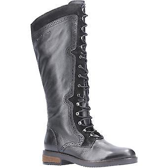 Hush الجراء النساء رودي الرمز البريدي حتى الدانتيل الجلود حتى الأحذية الطويلة