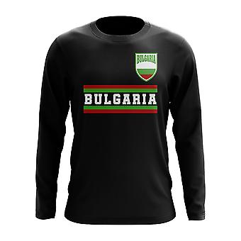 Bulgarije core Voetballand lange mouw T-shirt (zwart)