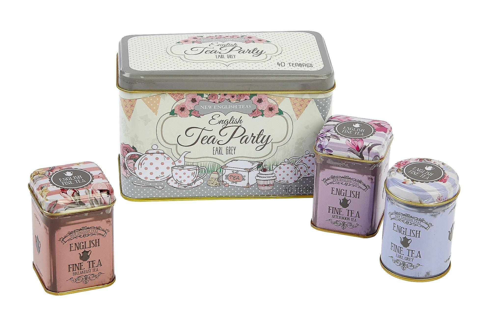 Vintage english afternoon tea party selection