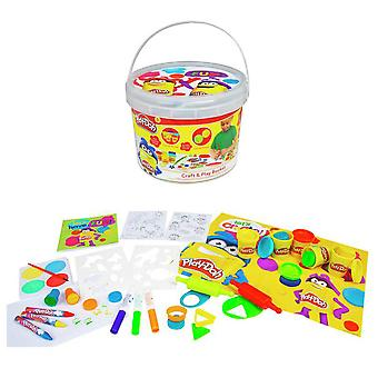 Play-Doh Craft & Play Bucket Pyssellburk Playset Playset Playdo Play