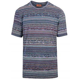 MISSONI Missoni Mixed Pattern Multi-Colour Knit T-Shirt