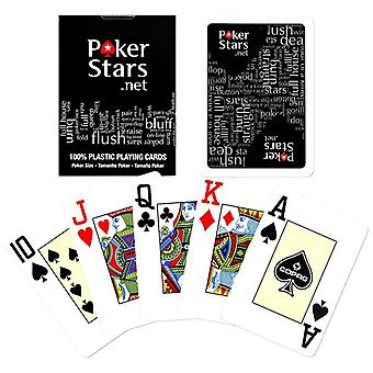 Black, PokerStars gaming card-100% plastic-black