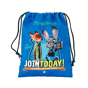 Disney Zootropolis Childrens/Kids Drawstring Character Lunch Bag