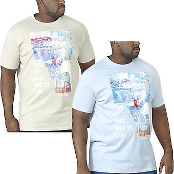 Duke D555 Mens Gordon Big Tall Crew Neck Short Sleeve Cotton T-Shirt Tee Top