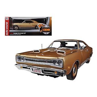 1969 Dodge Coronet R/T Light Bronze Poly HEMI 50th Anniversary Limited to 1250pc1/18 Diecast Model Car di Autoworld