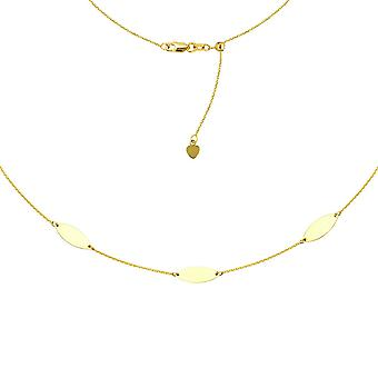 14k Yellow Gold Marquise Trio Choker With Adjustable Bead 16 Inch Jewelry Gifts for Women