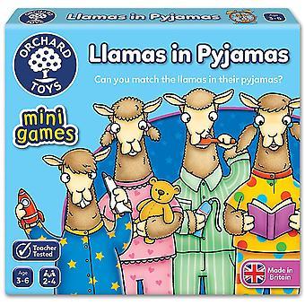 Jogo de viagem pomar brinquedos lhamas de pijamas