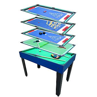 Charles Bentley Multi Functie 12-IN-1 Kids Multi Sports Table Classic Family Games Combo Tafel Voetbal Air Hockey Pool Tennis