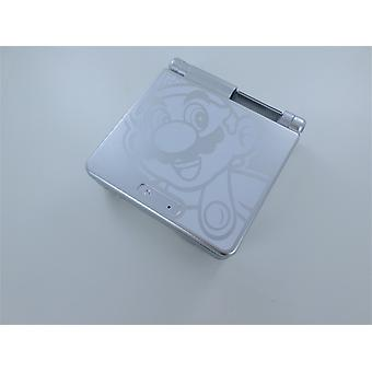 Housing shell for game boy advance sp nintendo full replacement mod kit mario edition -silver | zedlabz